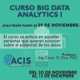 Curso Big Data Analytics I - Bogota